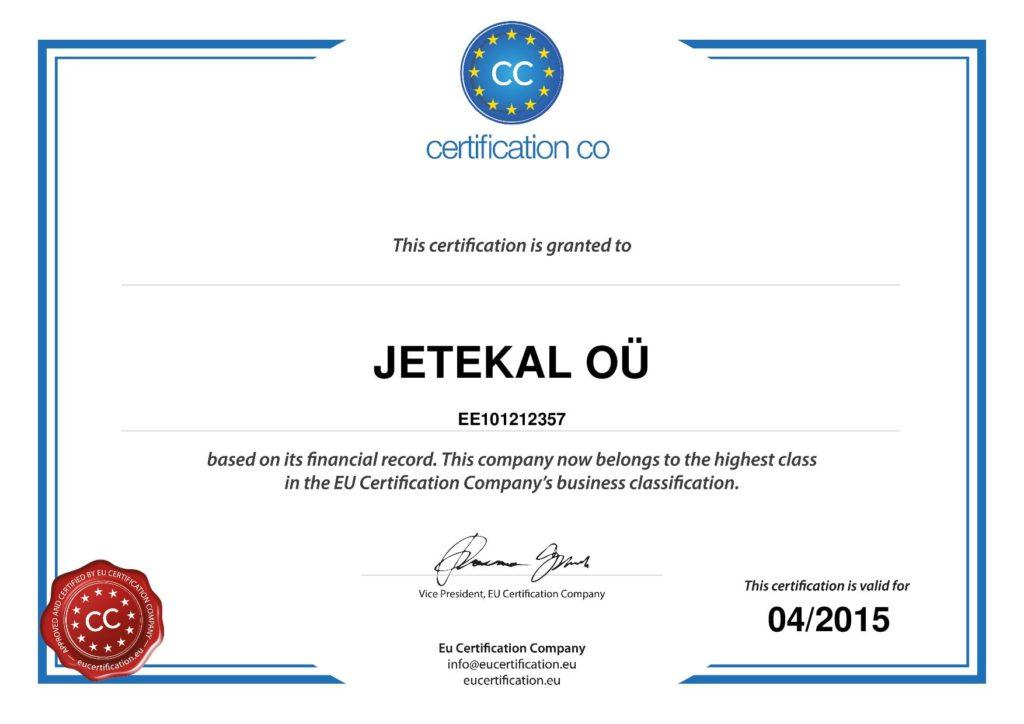 jetekal certified